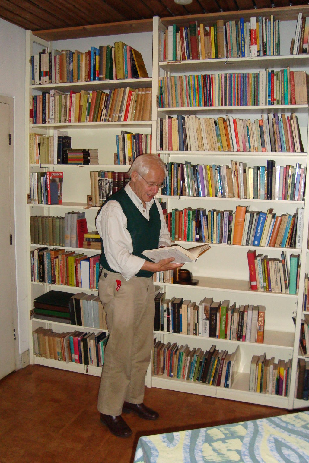 Bibliotheek met Paul
